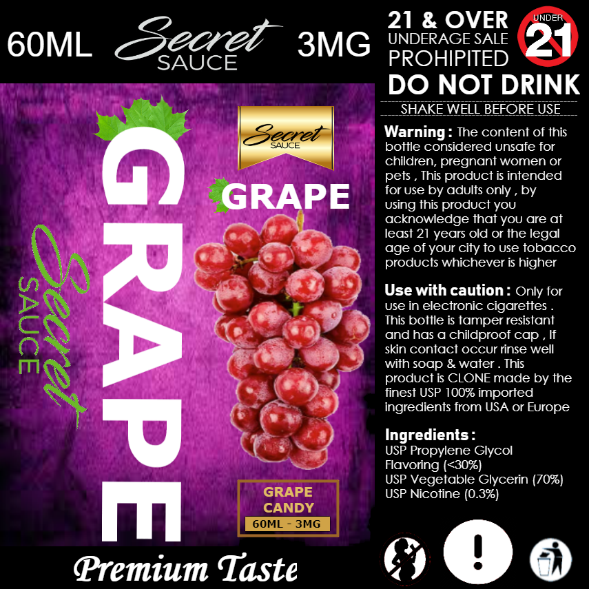 PREMIUM TASTE SECRET GRAPE E-LIQUID