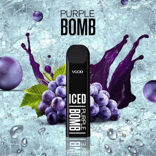 VGod Stig Disposable Pod Purple Bomb Iced Salt Nicotine